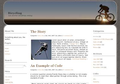 Bicycling WordPress Theme