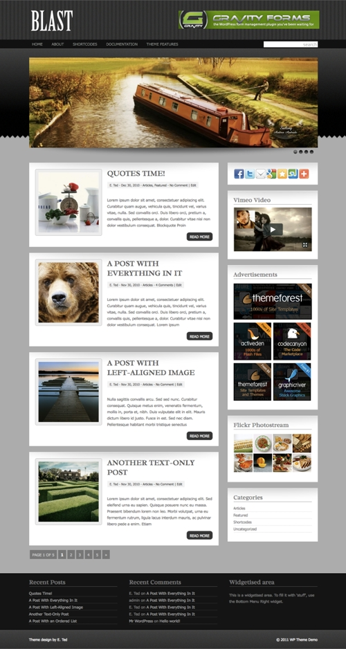 Blast WordPress Theme