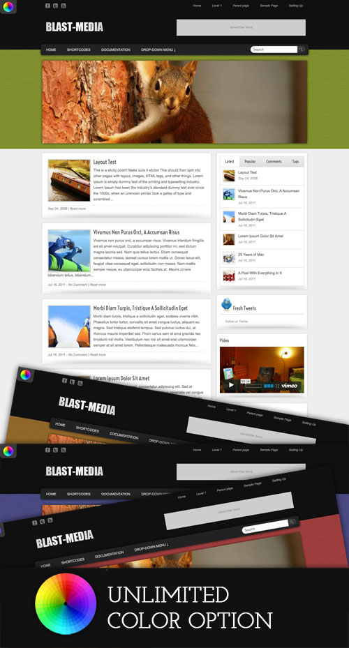 Blast-Media WordPress Theme