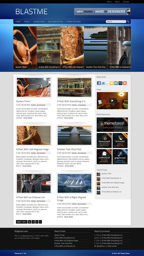 Blastme WordPress Theme