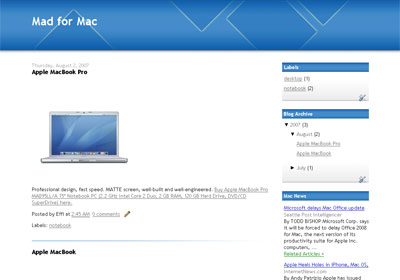Blue Square Blogger Template