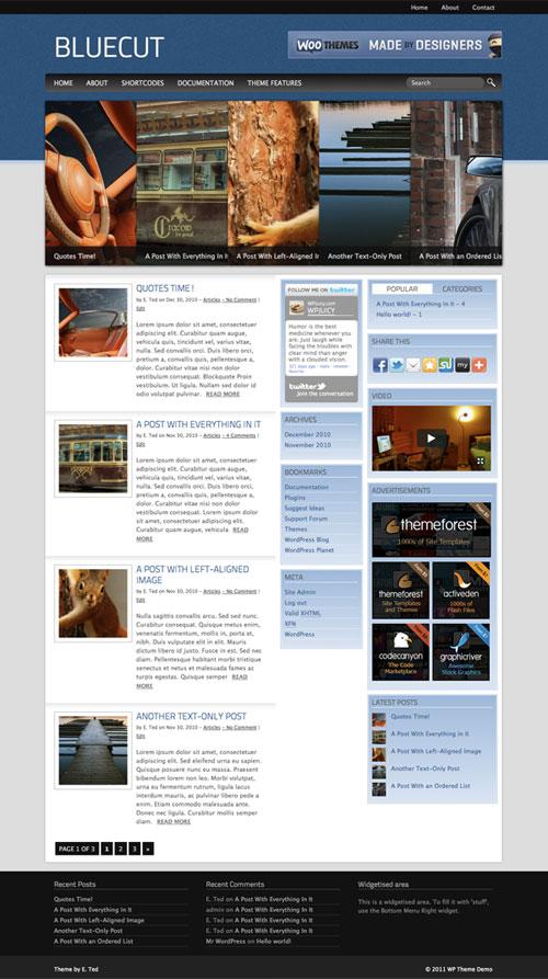 Bluecut WordPress Theme