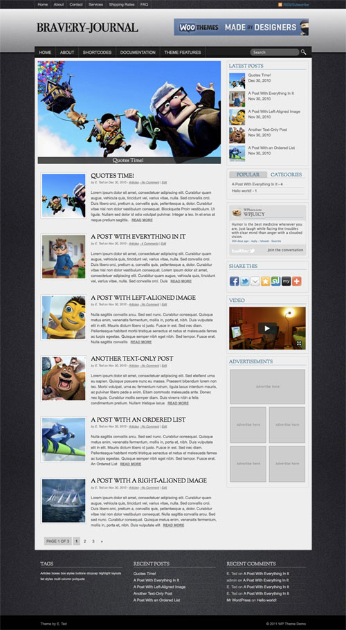 Bravery-Journal WordPress Theme