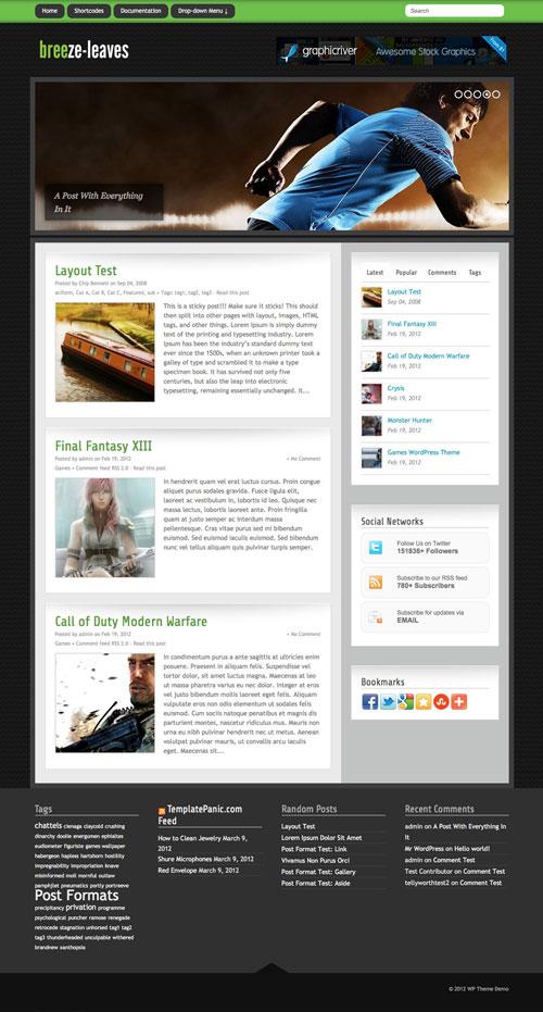 Breeze-Leaves WordPress Theme