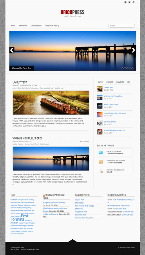 Brickpress WordPress Theme