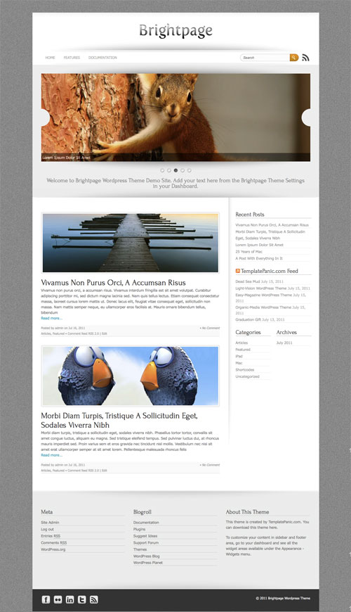 Brightpage WordPress Theme