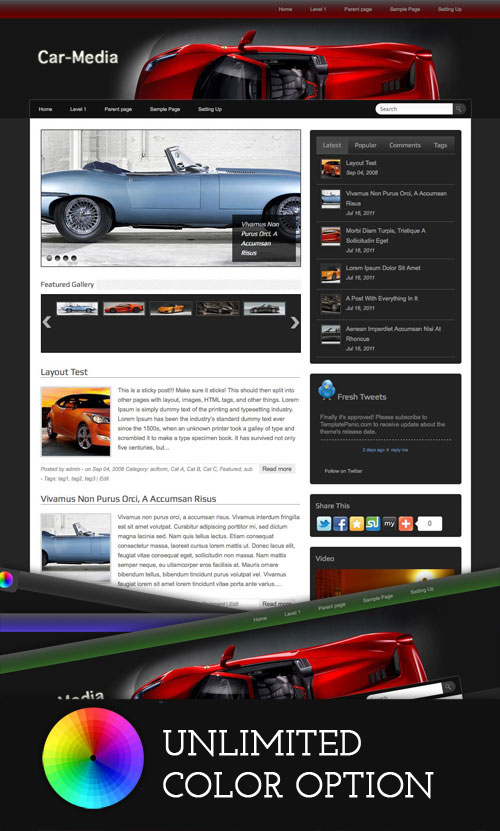 Car-Media WordPress Theme