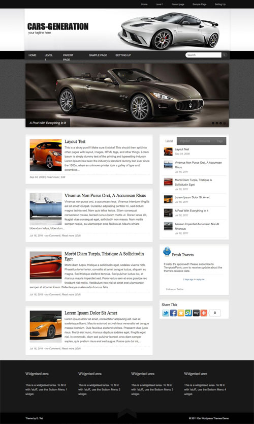 Cars-Generation WordPress Theme