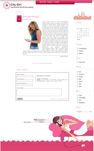 City Girl WordPress Theme