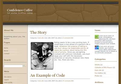 Confidence Coffee WordPress Theme