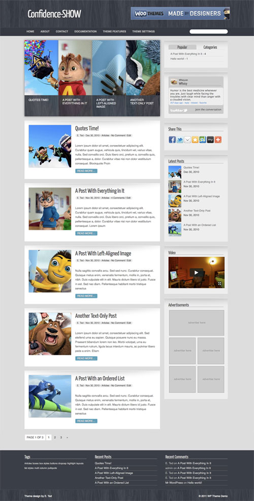 Confidence-Show WordPress Theme