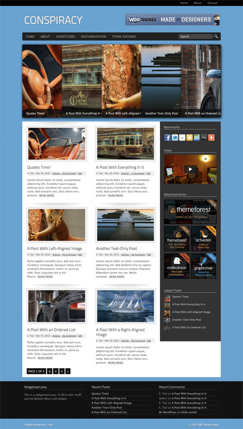 Conspiracy WordPress Theme