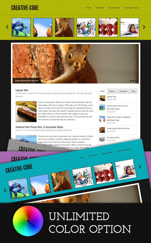 Creative-Core WordPress Theme