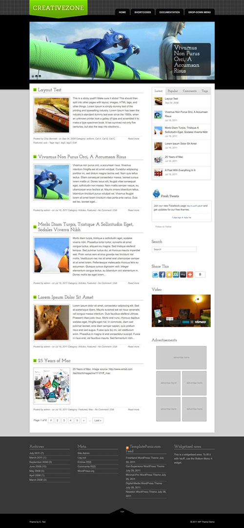 Creativezone WordPress Theme
