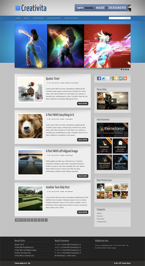 Creativita WordPress Theme