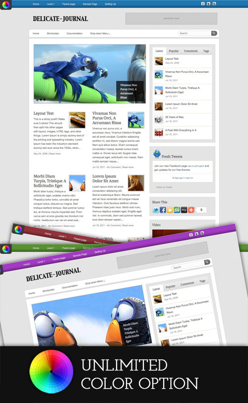 Delicate-Journal WordPress Theme