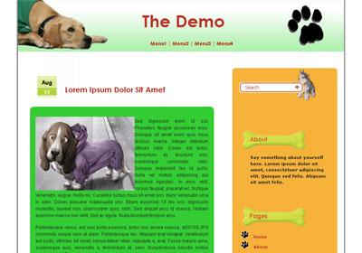 Dog's Diary WordPress Theme
