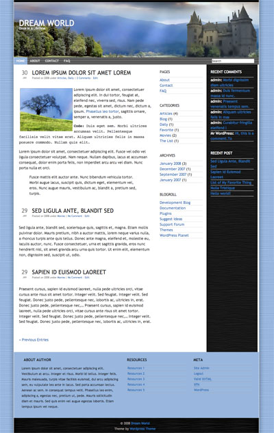 Dream World WordPress Theme