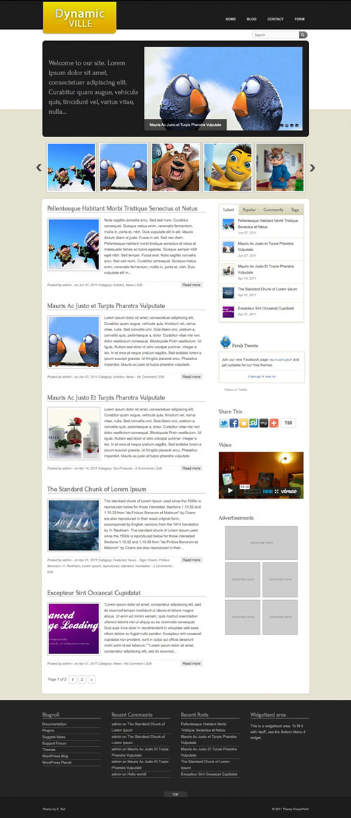 Dynamic-Ville WordPress Theme
