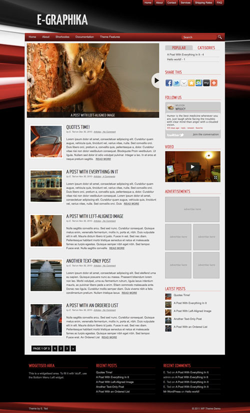 e-Graphika WordPress Theme