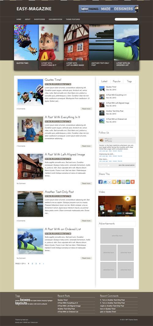 Easy-Magazine WordPress Theme