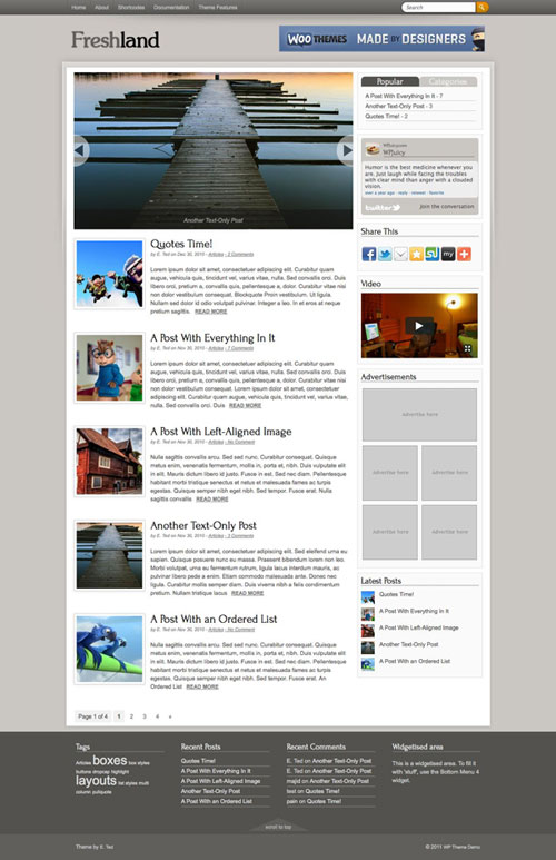 Freshland WordPress Theme
