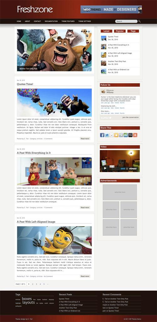 Freshzone WordPress Theme