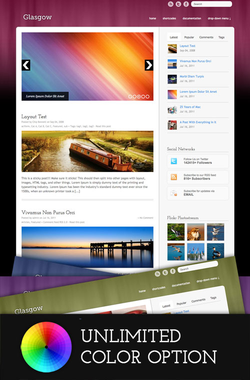 Glasgow WordPress Theme