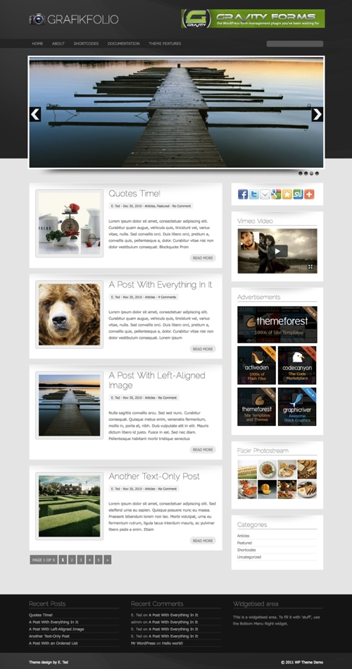 Grafikfolio WordPress Theme