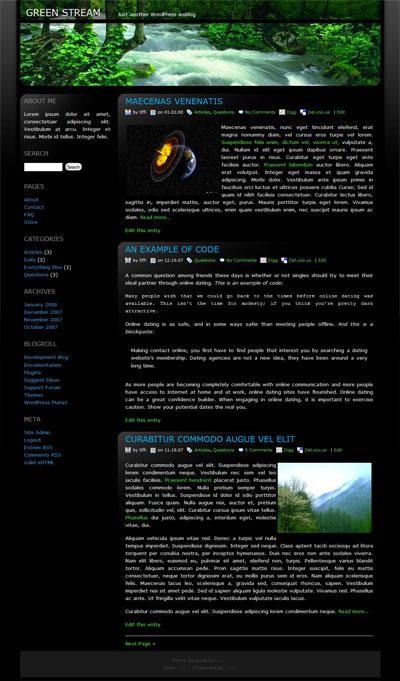 Green Stream WordPress Theme