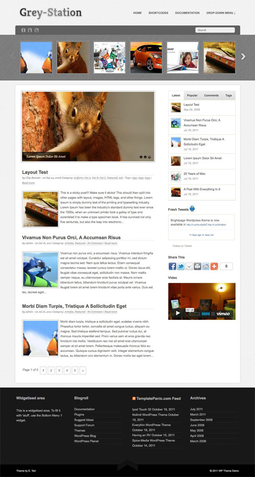 Grey-Station WordPress Theme