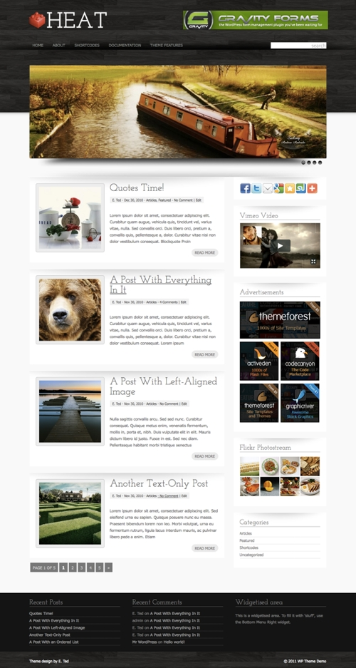 Heat WordPress Theme