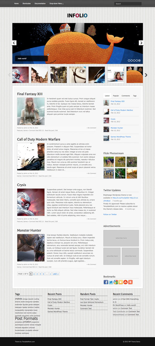 Infolio WordPress Theme