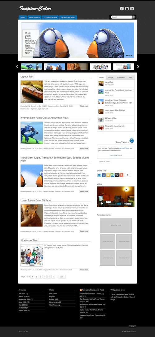 Inspire-Color WordPress Theme