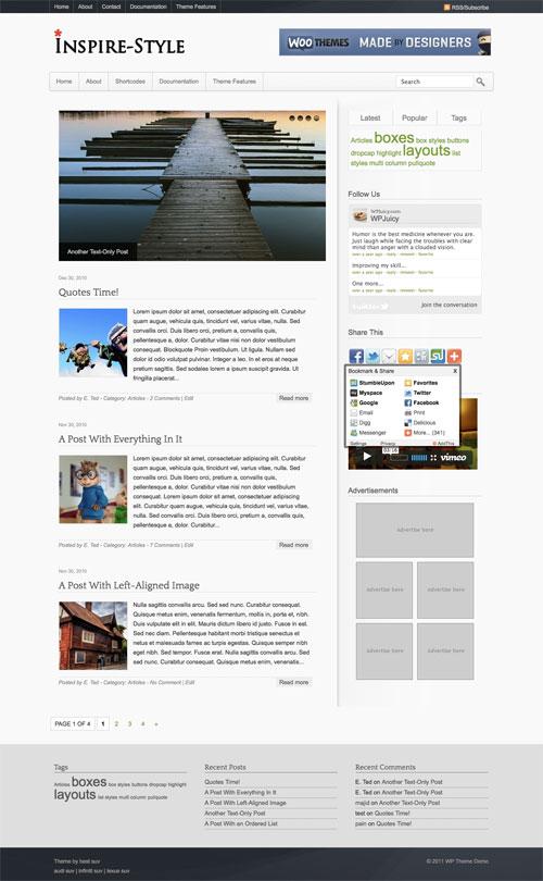 Inspire-Style WordPress Theme