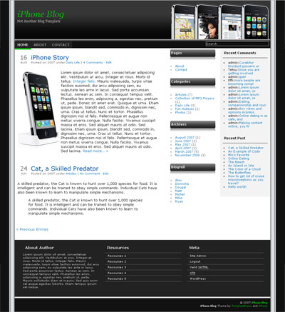 iPhone Blog WordPress Theme