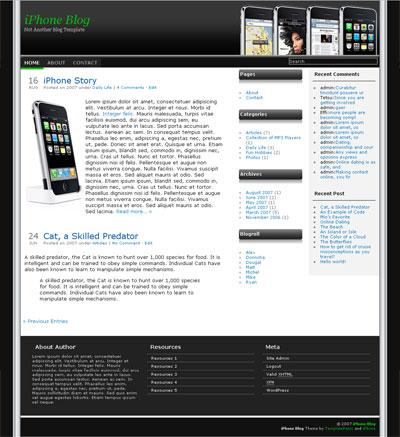 iPhone Blog WordPress Theme