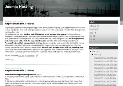 Joomla Hosting Blogger Theme