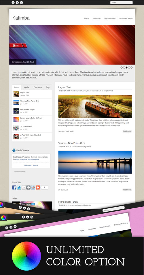 Kalimba WordPress Theme