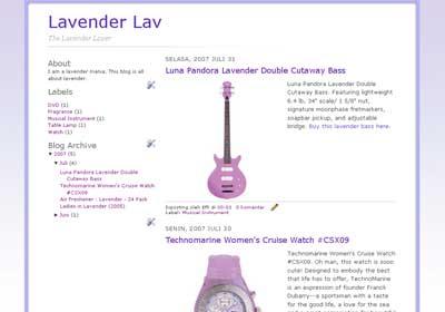 Lavender Blogger Template