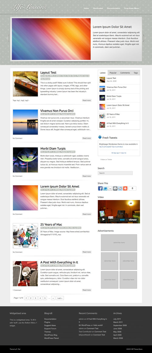 Life-Lessons WordPress Theme