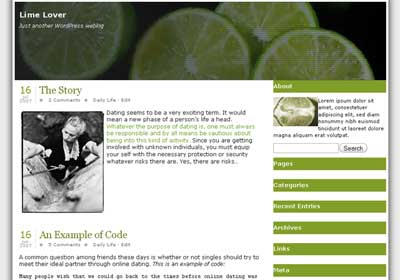 Lime Lover WordPress Theme