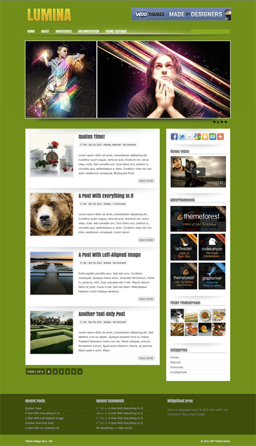 Lumina WordPress Theme