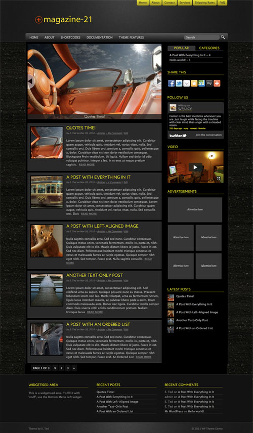 Magazine-21 WordPress Theme