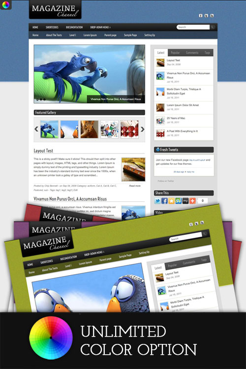 Magazine-Channel WordPress Theme