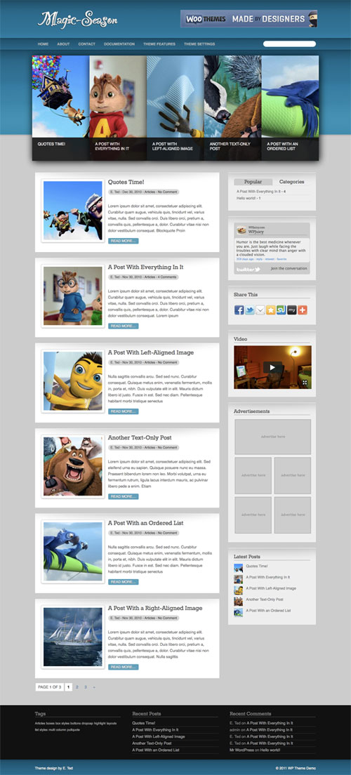 Magic-Season WordPress Theme