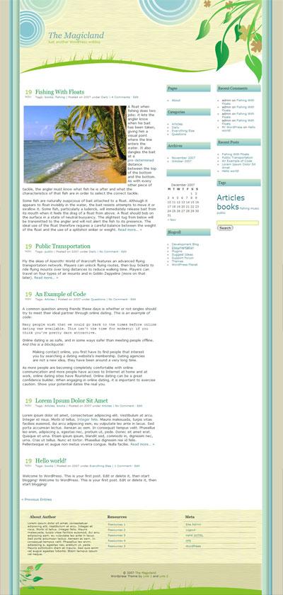 Magicland WordPress Theme