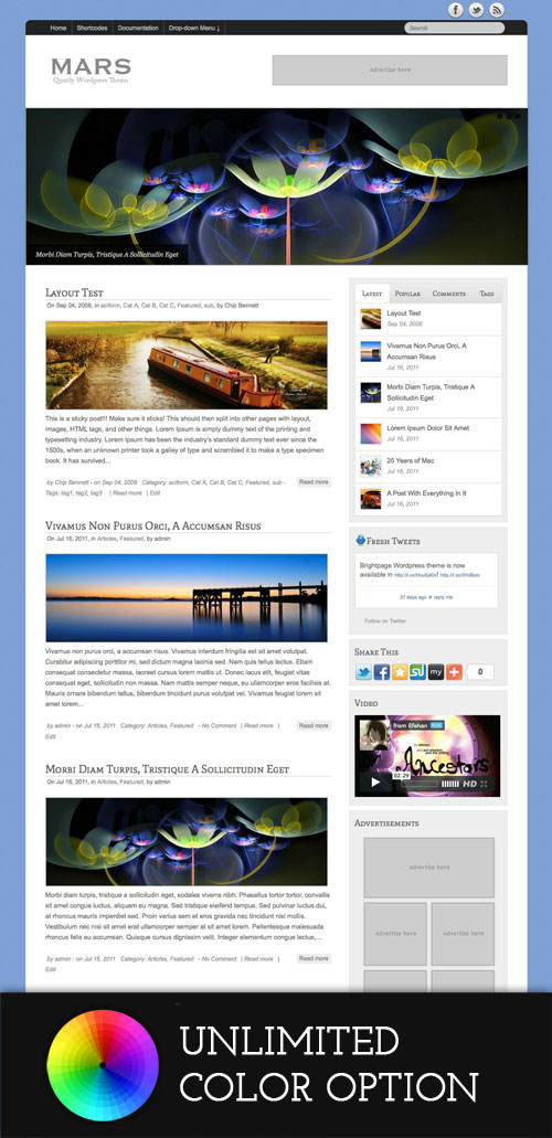 Mars WordPress Theme