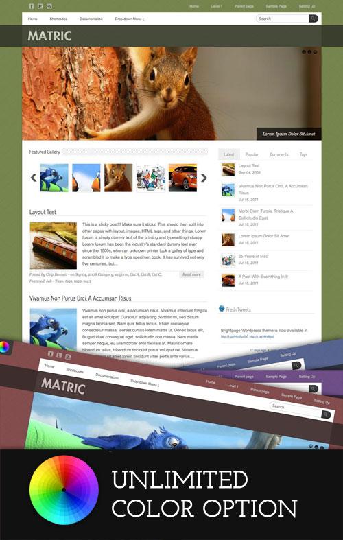 Matric WordPress Theme
