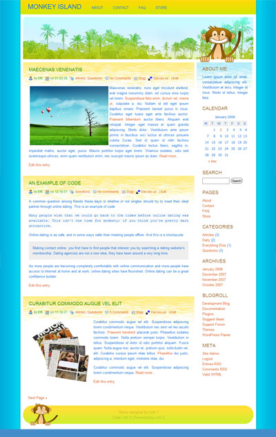 Monkey Island WordPress Theme